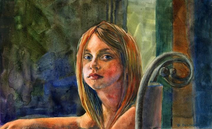 """Watercolor: Independence Day (& some link love)"" original fine art by Belinda Del Pesco"