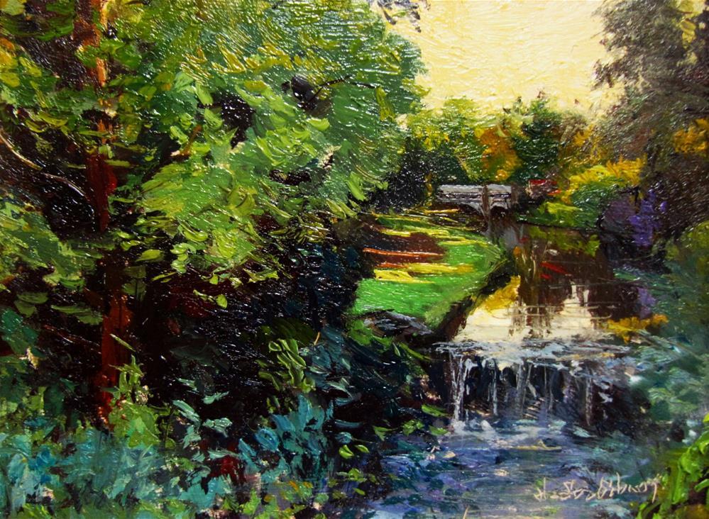 """""""The Garden opposite the Tea Rooms, Buxton"""" original fine art by Adebanji Alade"""