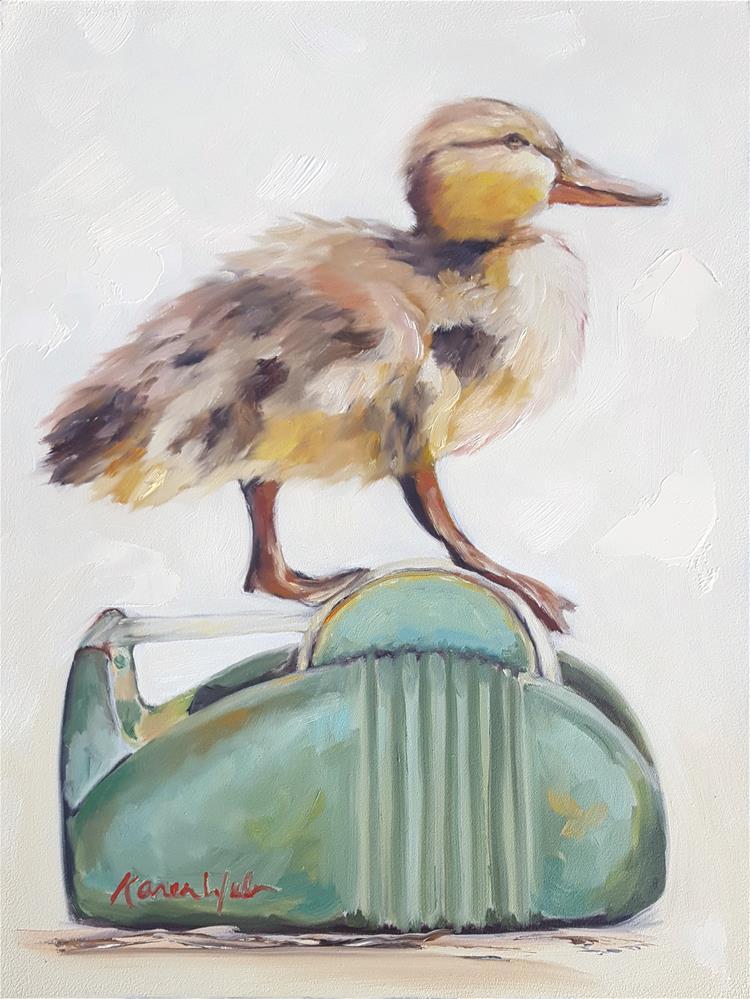 """""""Duck Tape"""" original fine art by Karen Weber"""
