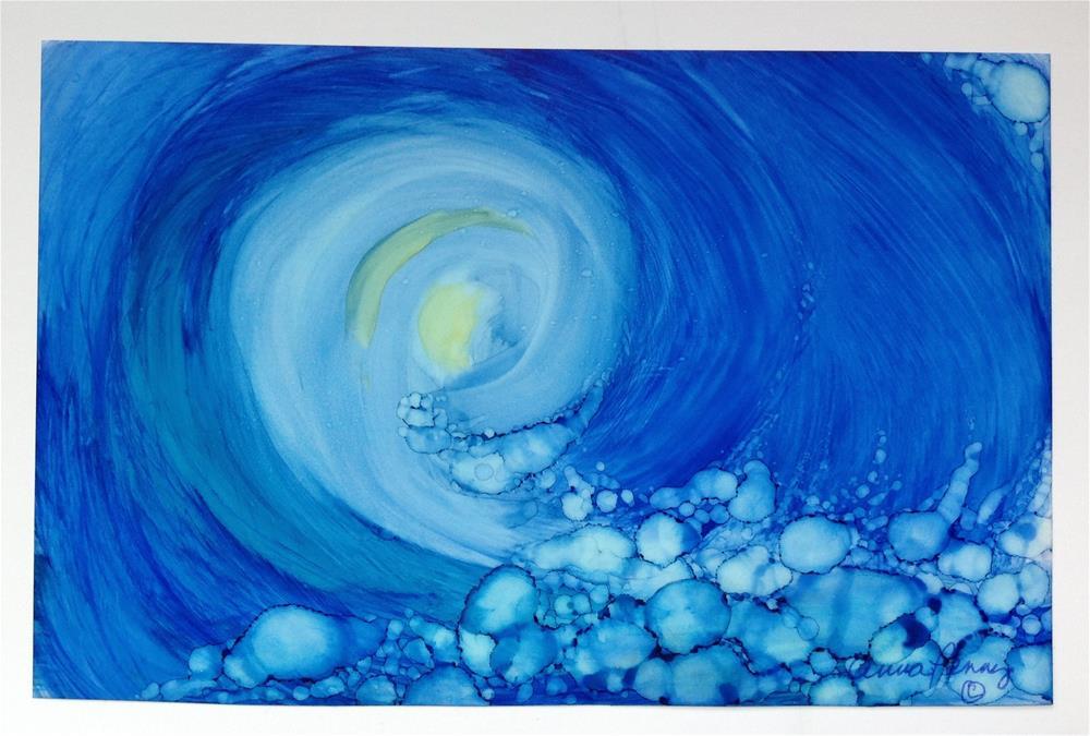 """The Curl"" original fine art by Anna Penny"