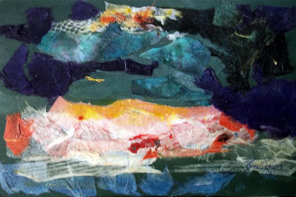 """Nightfalls on Poros"" original fine art by Pamela Jane Rogers"