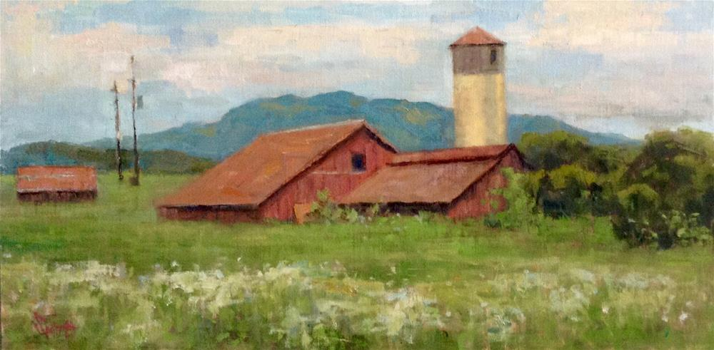"""Scenic Farm"" original fine art by Barbie Smith"