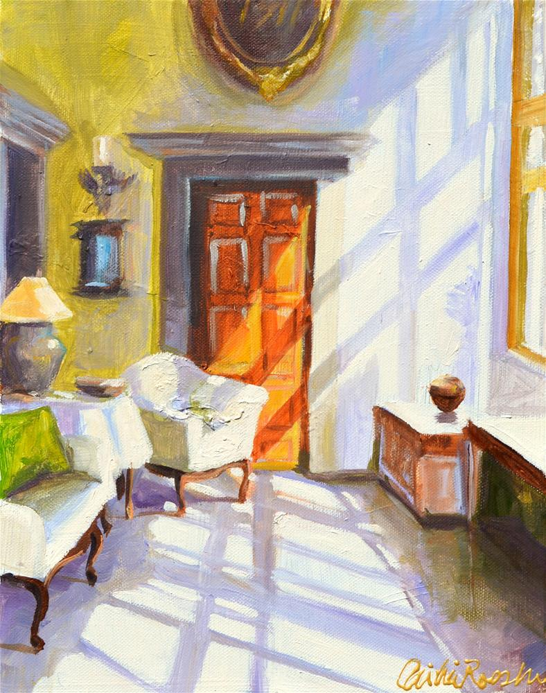"""SUN DRENCHED ROOM"" original fine art by Cecilia Rosslee"