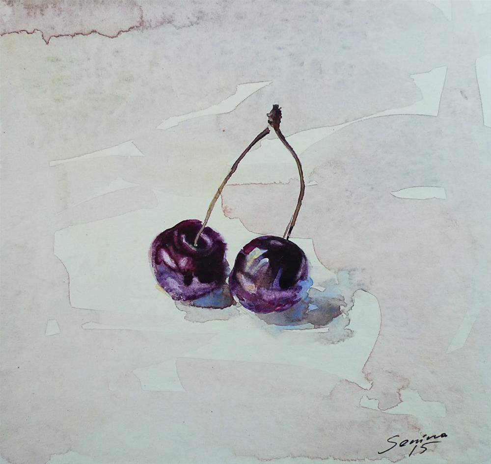 """Cherries2"" original fine art by Elena Senina"