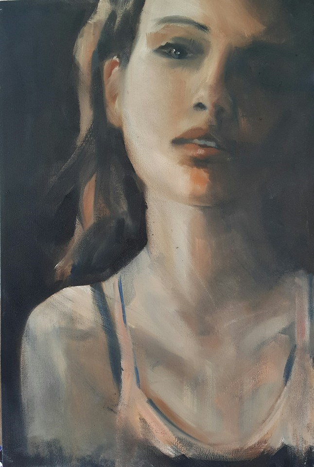"""Gone girl"" original fine art by Rentia Coetzee"