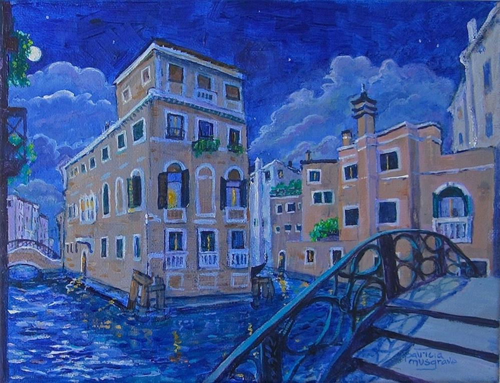 """""""Venice at Night"""" original fine art by Patricia Musgrave"""