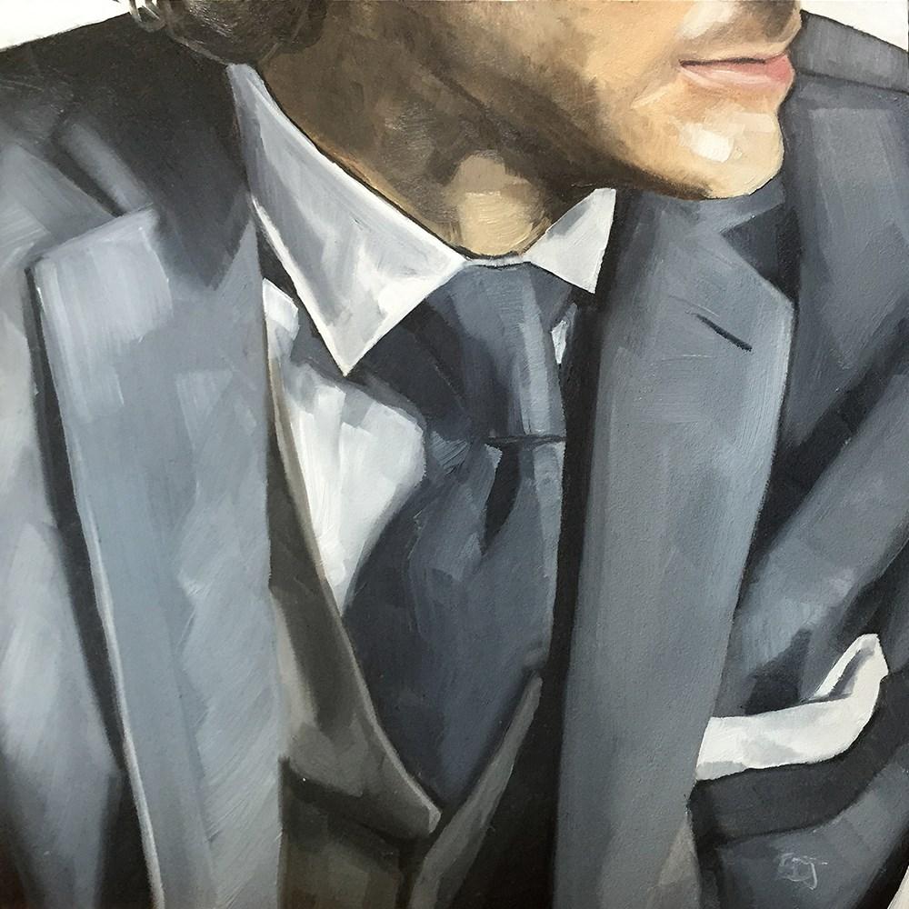 """4 Suit"" original fine art by Elizabeth Dawn Johnston"