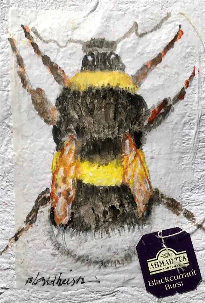 """Bumble Bee"" original fine art by Linda Blondheim"