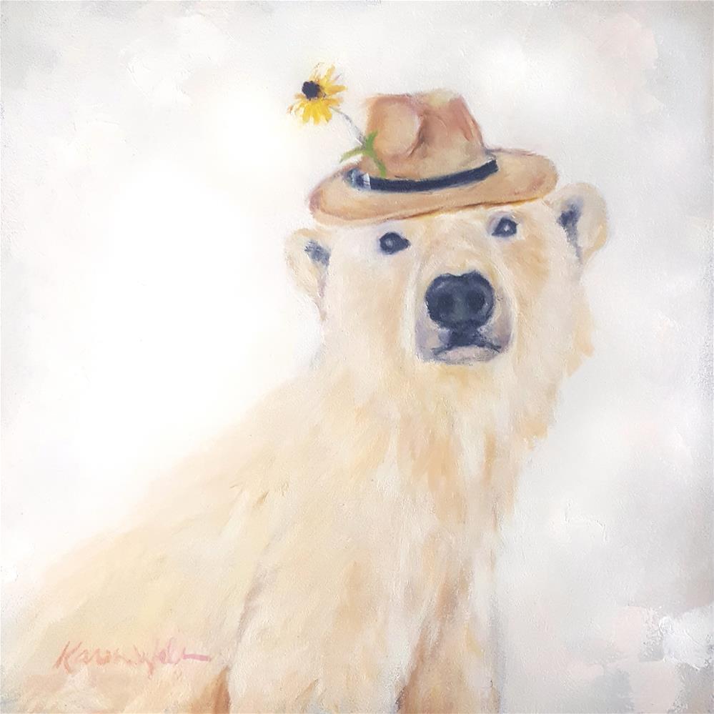 """Brother Bjorn"" original fine art by Karen Weber"