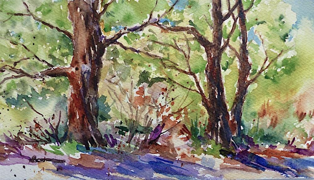 """Summer Woodland"" original fine art by Judith Freeman Clark"