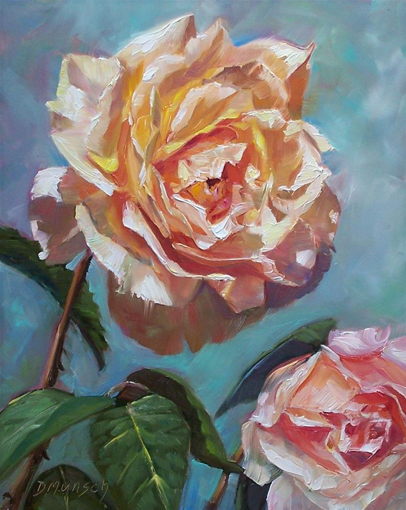 """Cream Rose"" original fine art by Donna Munsch"