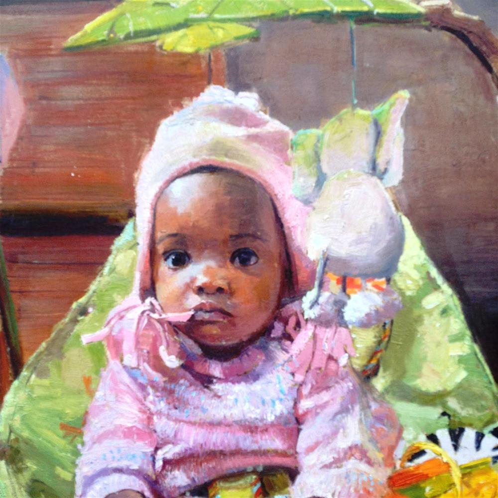 """Just give me a smile"" original fine art by Adebanji Alade"