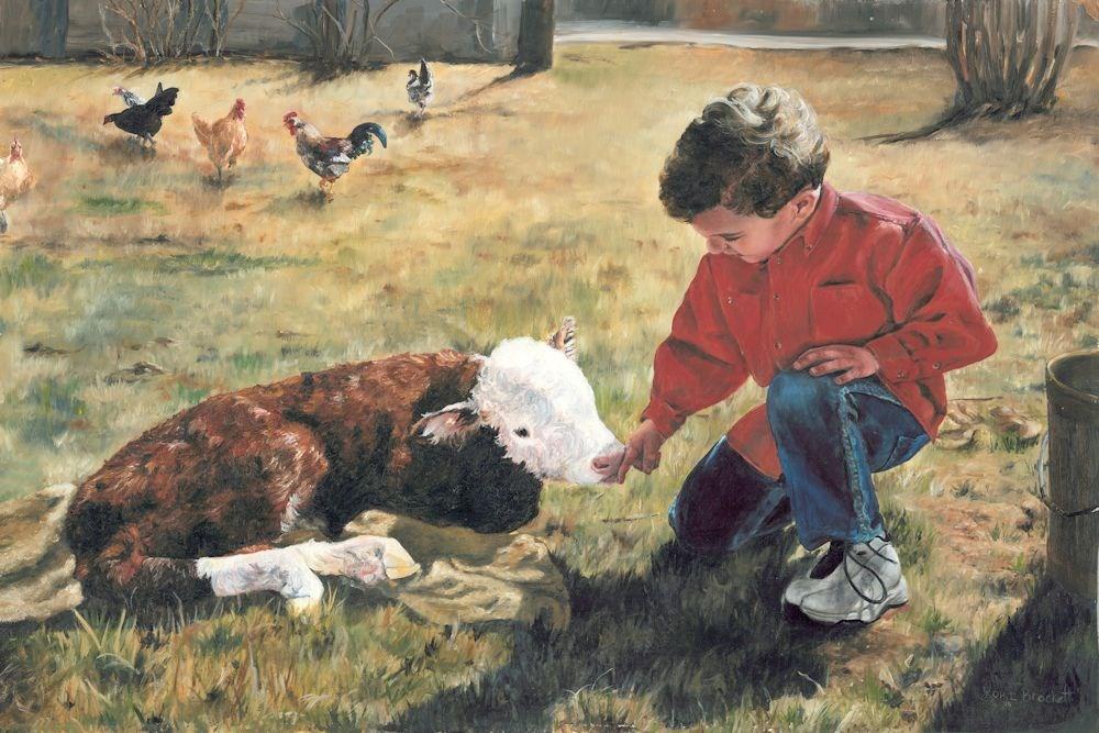 """20 Minute Orphan"" original fine art by Lori Brackett"