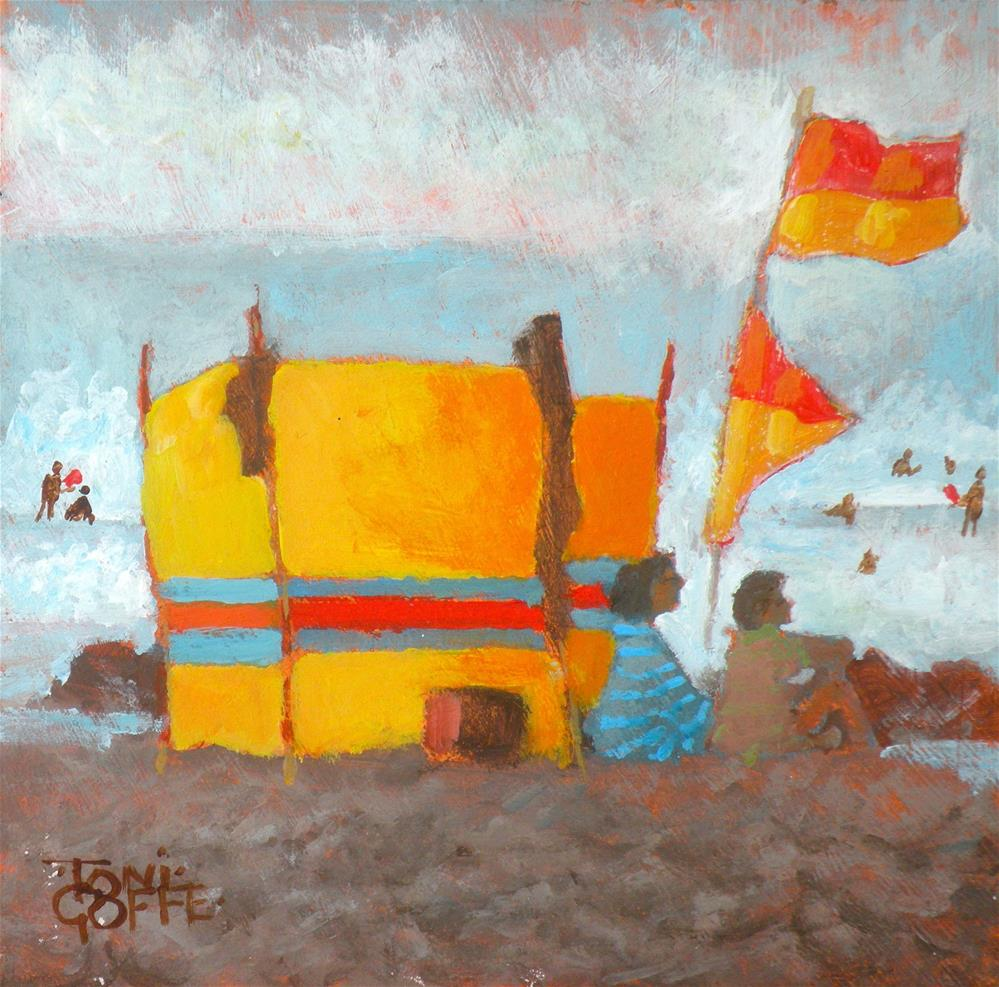 """Keeping the sea at Bay"" original fine art by Toni Goffe"