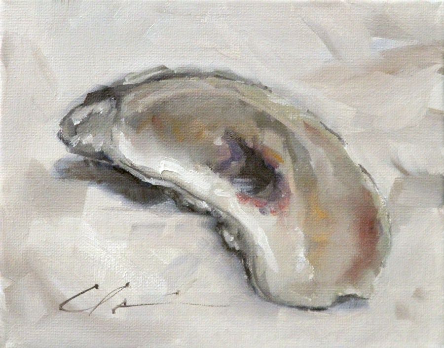 """Oyster Shell"" original fine art by Clair Hartmann"