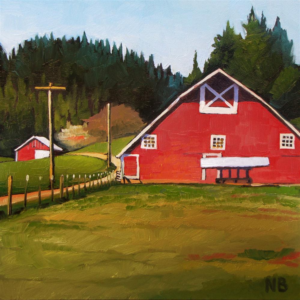 """Summer Red"" original fine art by Nora Bergman"