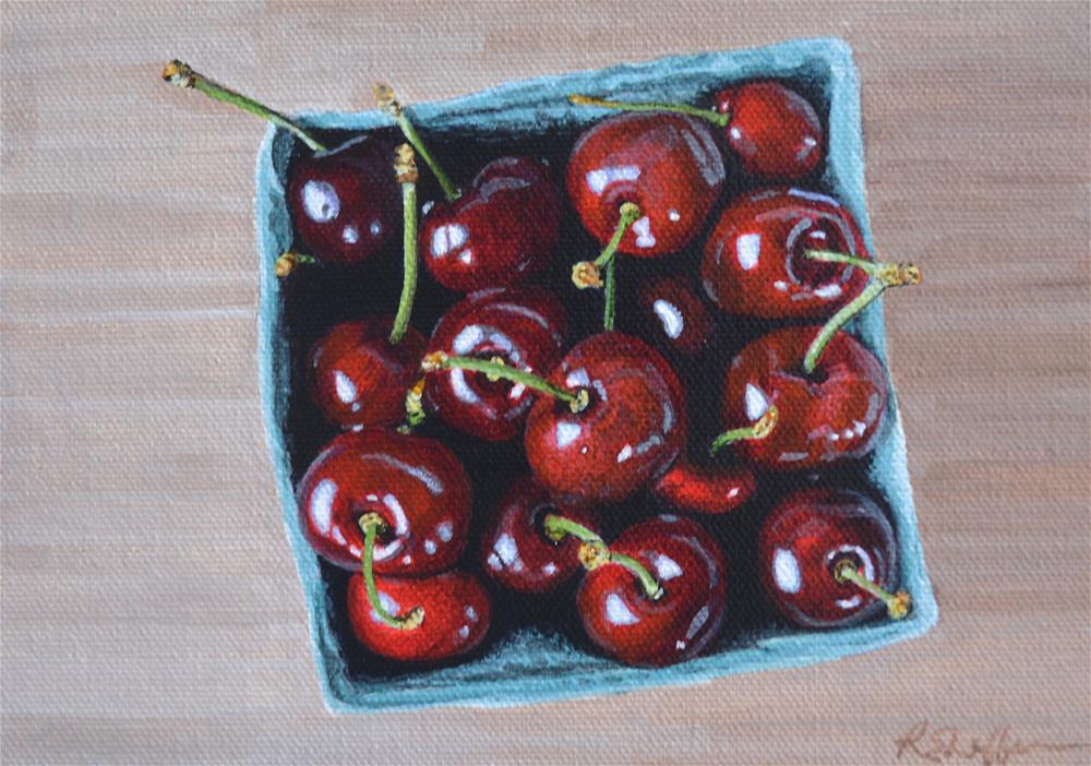 """Farmers' Market Cherries"" original fine art by Renay Shaffer"