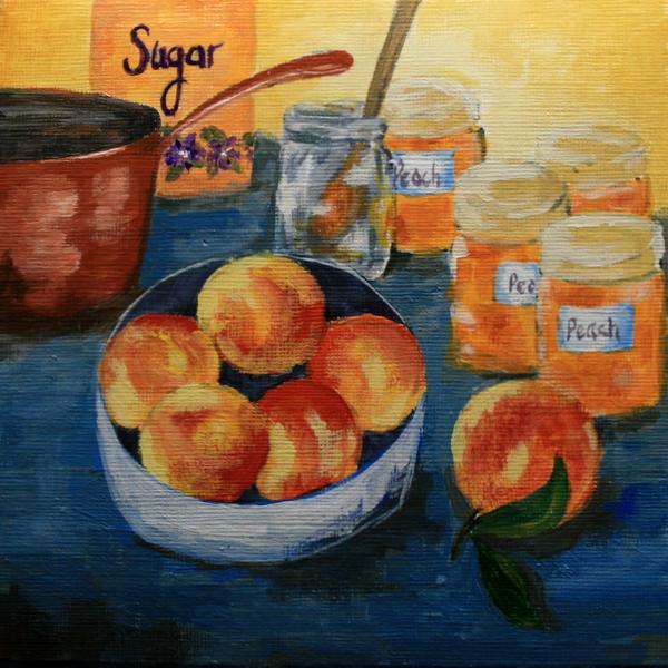 """Peach Jam"" original fine art by Jean Nelson"