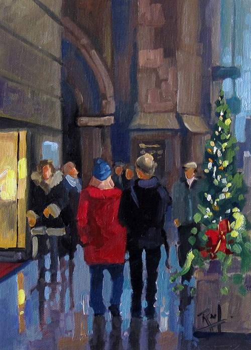"""""""No 803 An Evening Out"""" original fine art by Robin J Mitchell"""