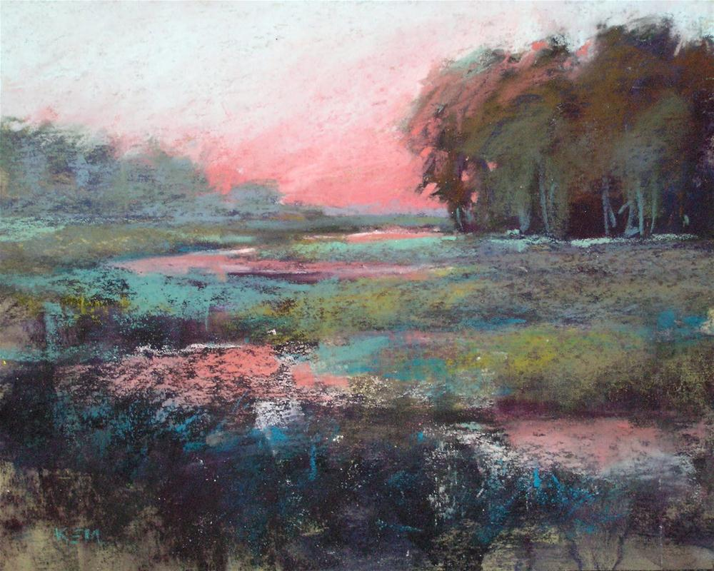 """Painting Beautiful Places...Kiawah Island, SC"" original fine art by Karen Margulis"