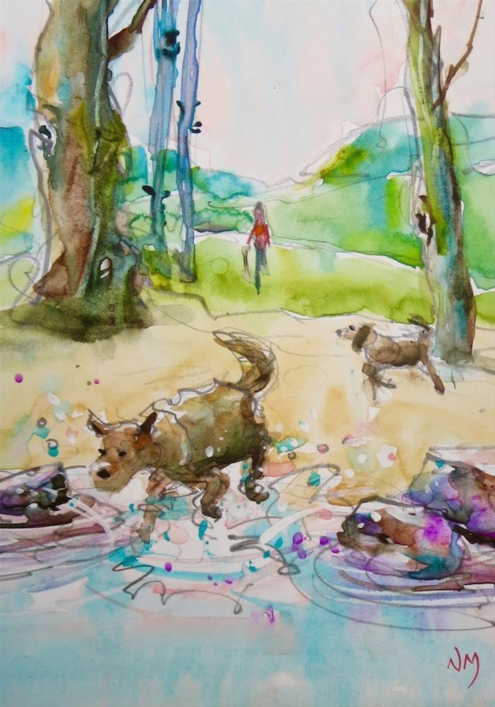 """late run"" original fine art by Nora MacPhail"