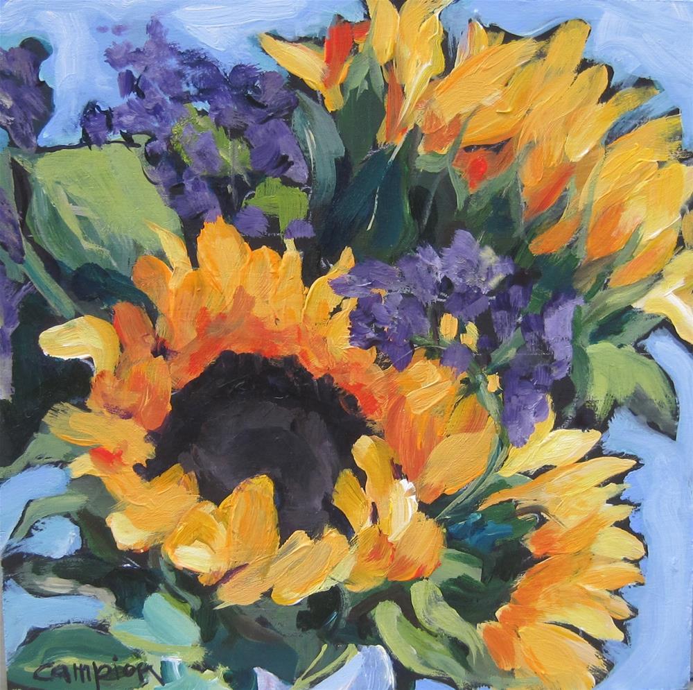 """""""109.  Market Bouquet, Long Lasting"""" original fine art by Diane Campion"""