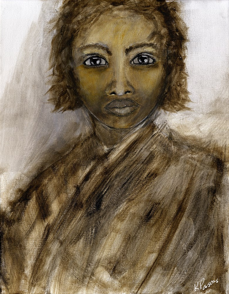 """""""She Held the World's History in her Eyes"""" original fine art by Kali Parsons"""