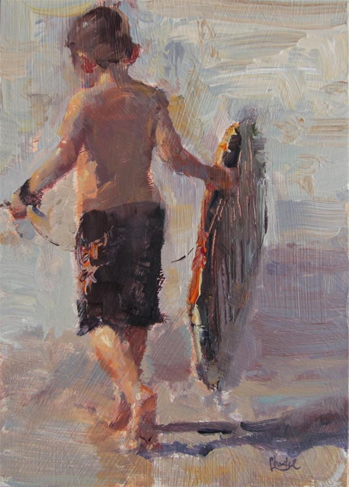 """""""Brennen At The Beach"""" original fine art by Chantel Barber"""