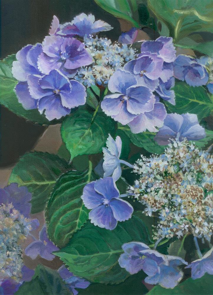 """""""Hydrangea Blues"""" original fine art by Nicoletta Baumeister"""