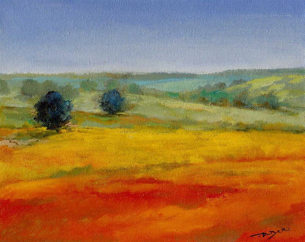 """red grass"" original fine art by Mark DeBak"