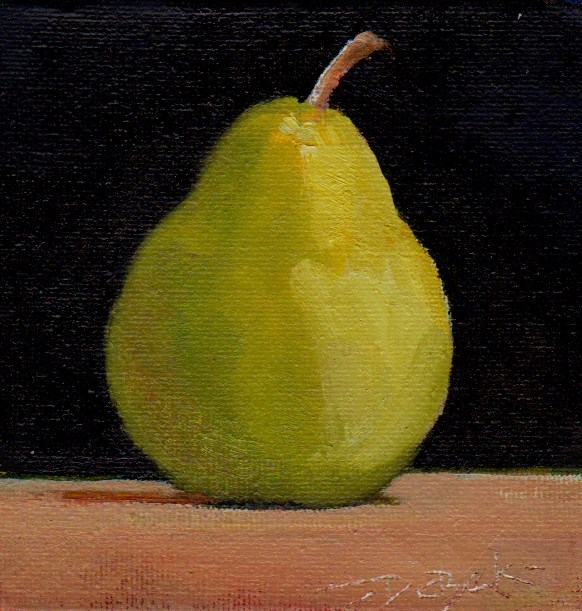 """pear"" original fine art by Mark DeBak"