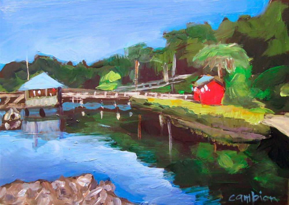"""206 Fishing Shack"" original fine art by Diane Campion"