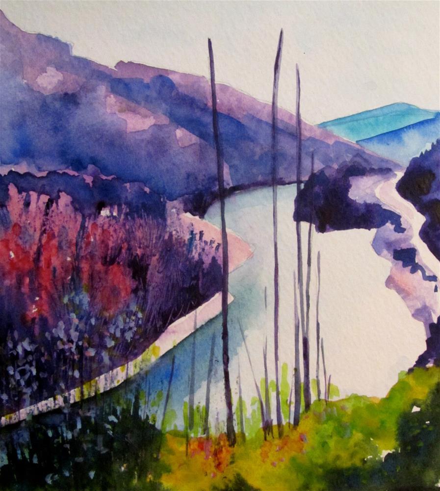 """""""North Thompson River, #1"""" original fine art by Patricia MacDonald"""