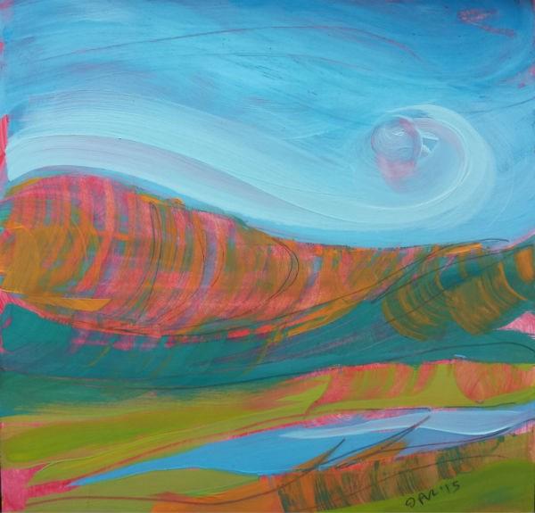 """Canyon Dreams 36 original abstract landscape painting"" original fine art by Pam Van Londen"