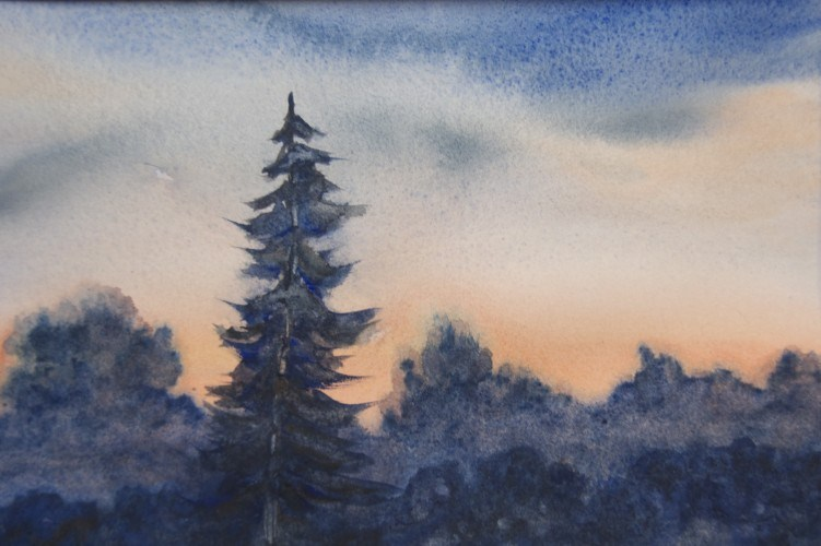 """First Light"" original fine art by Jean Lurssen"
