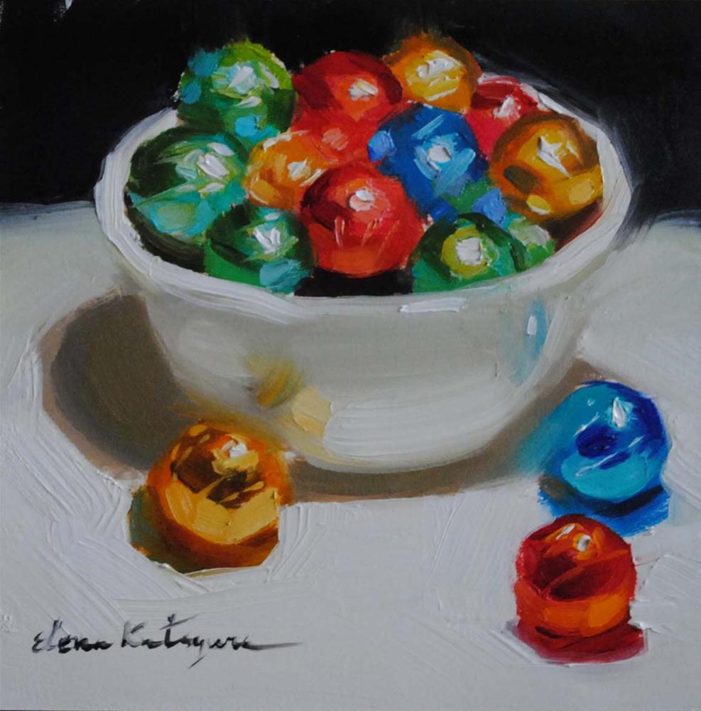 """Christmas Candy"" original fine art by Elena Katsyura"
