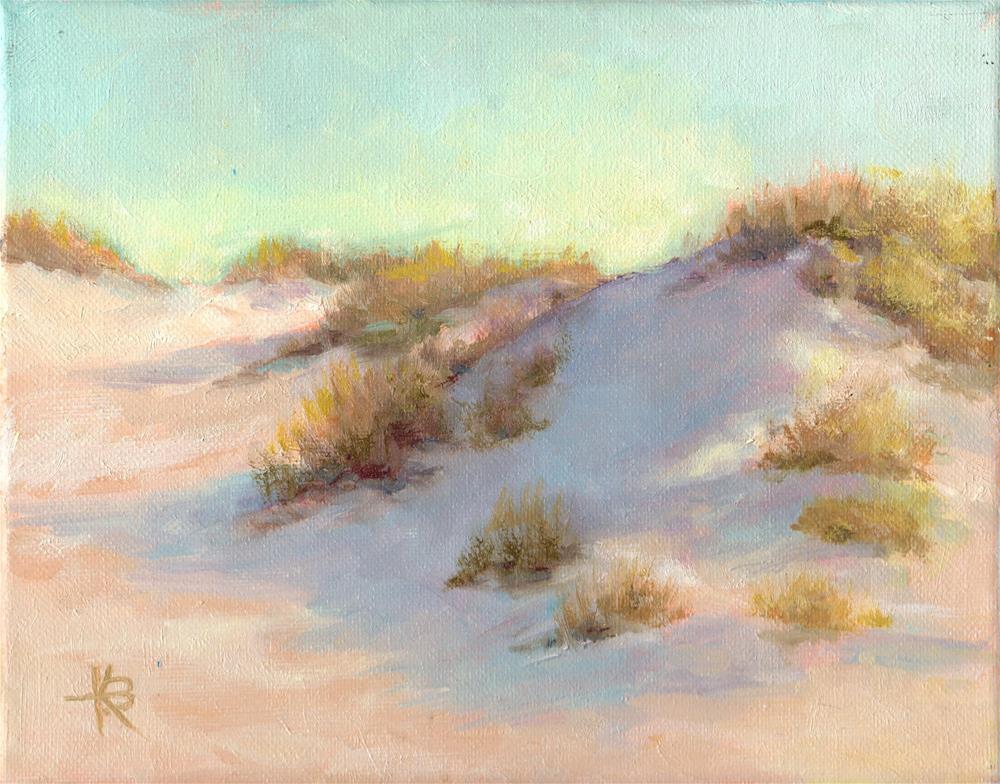 """Beach Glow"" original fine art by Kathy Bodamer"