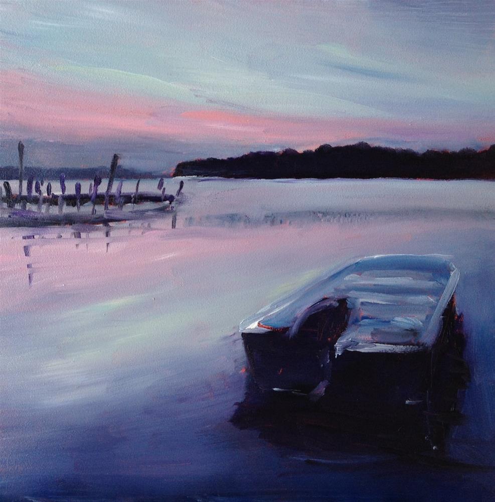 """""""Quiet River Evening"""" original fine art by Claudia L Brookes"""