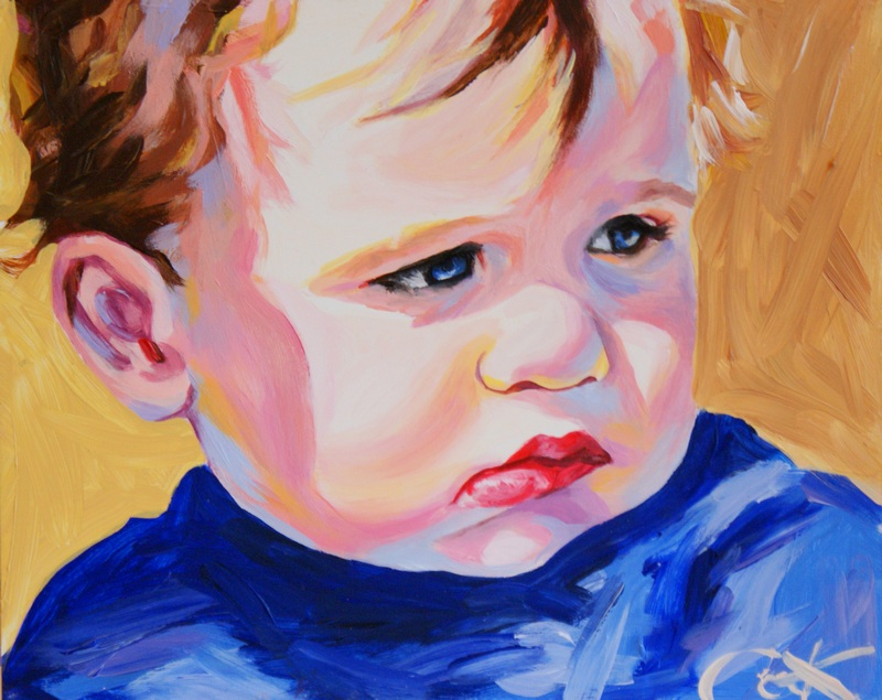 """""""A Reason To Pout"""" original fine art by Crystal Cook"""