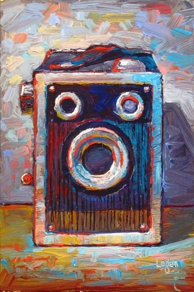 """Ansco Shur Shot Box Camera"" original fine art by Raymond Logan"