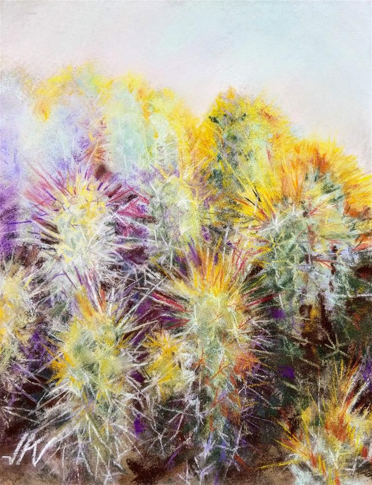 """Cacti"" original fine art by Jean Krueger"
