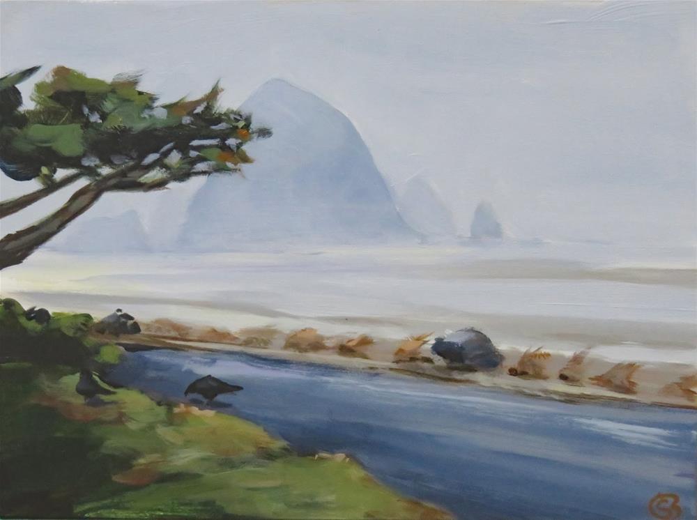 """Foggy Morning in Cannon Beach"" original fine art by Shari Buelt"