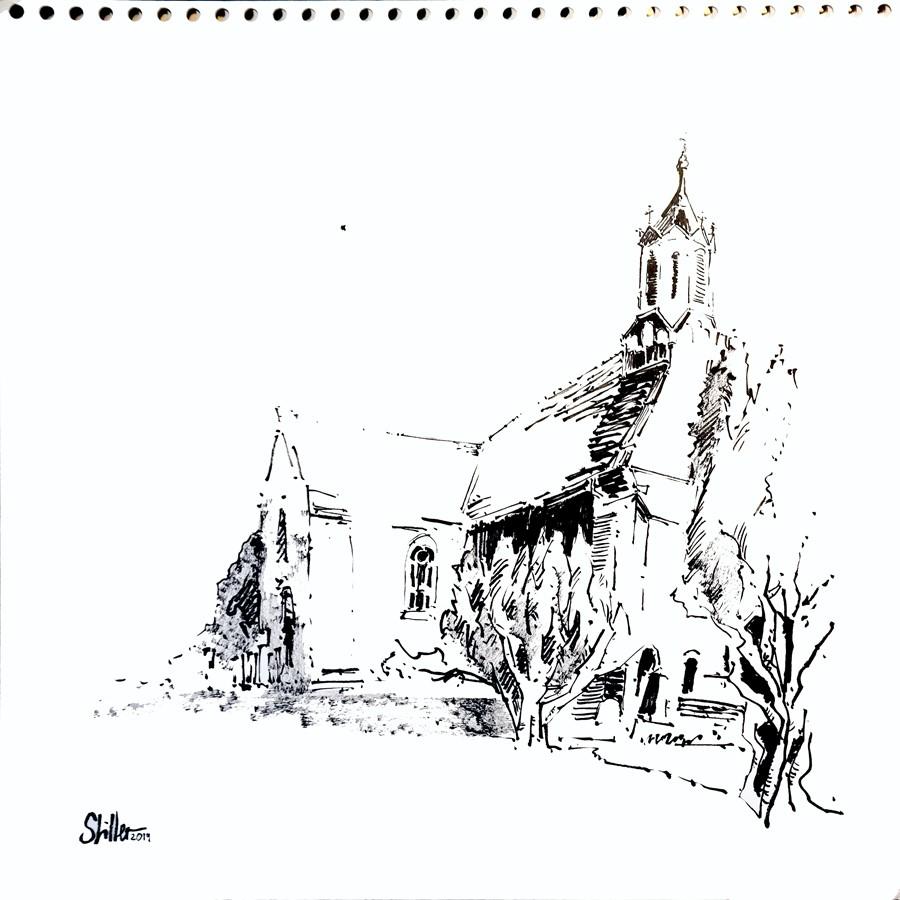 """""""2844 Monastery Marienwerder"""" original fine art by Dietmar Stiller"""