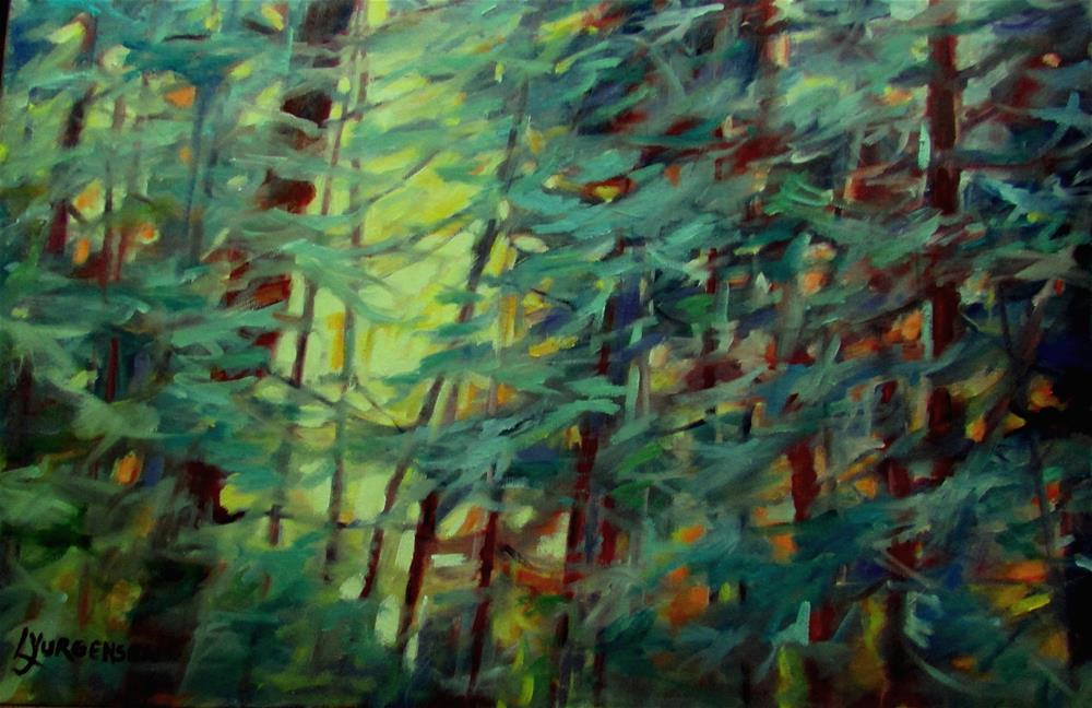 """20x 30 inch oil A Tangled Mess"" original fine art by Linda Yurgensen"