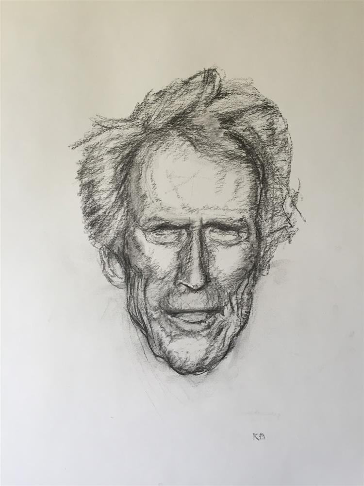 """Clint"" original fine art by Rick Blankenship"