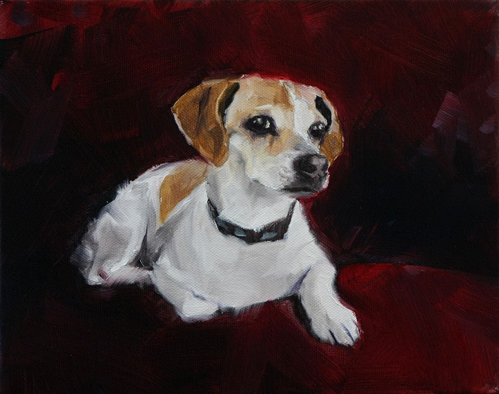 """The Daily Dog - Twenty Five"" original fine art by Clair Hartmann"