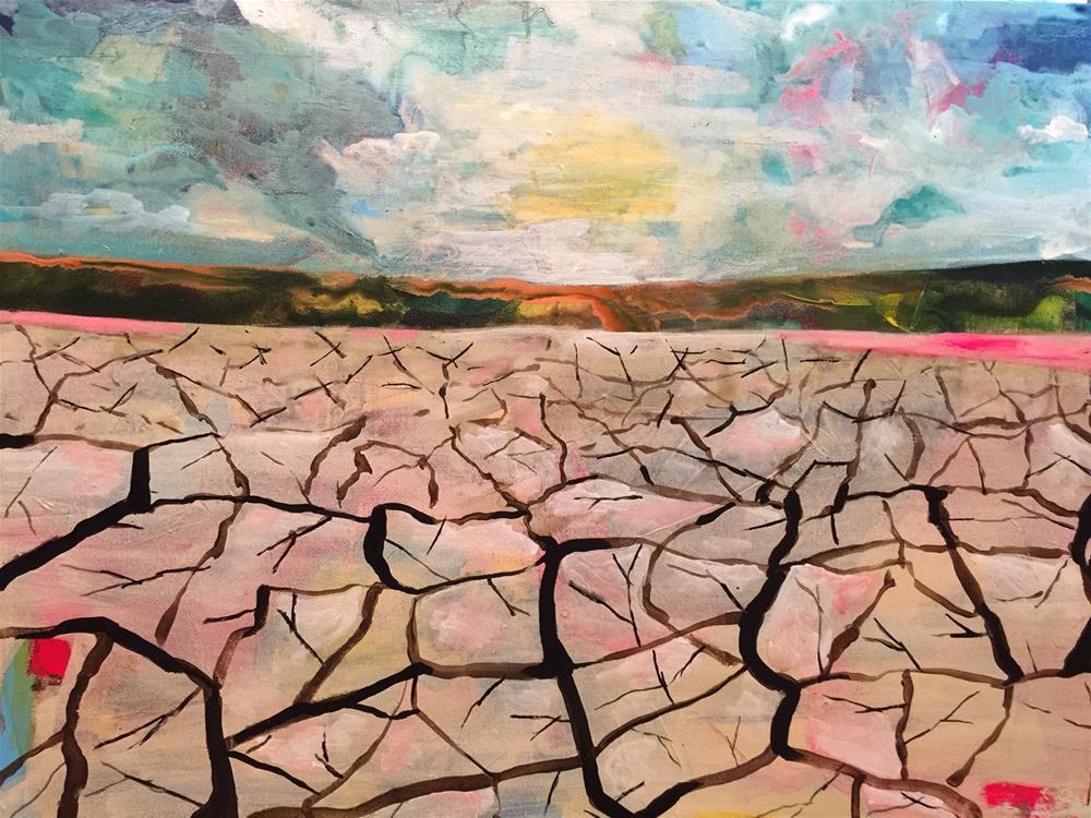 """146 Parched"" original fine art by Jenny Doh"