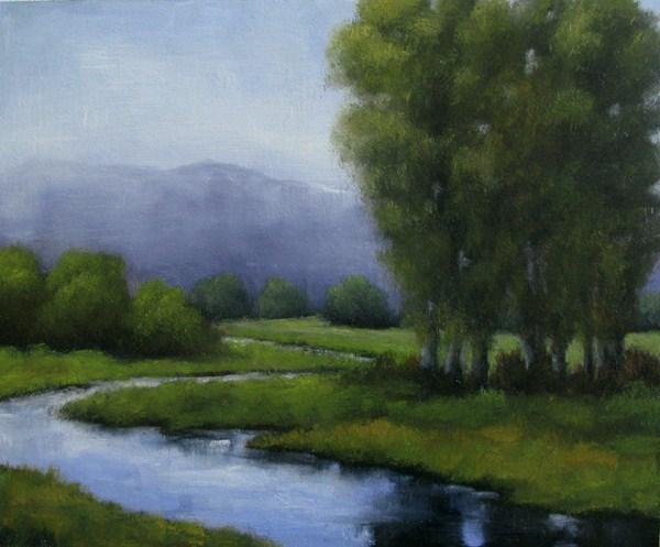 """Around The Corner"" original fine art by William Hoshal"