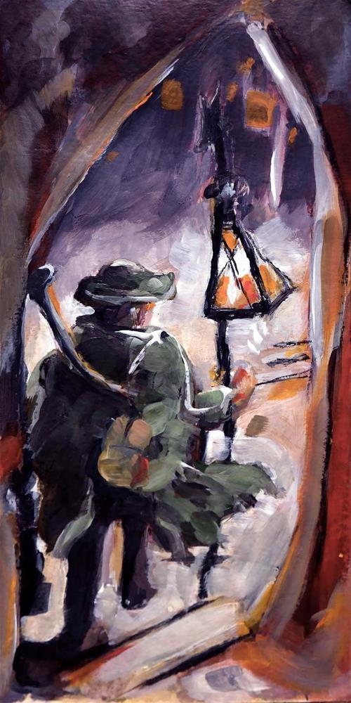 """1202 Watchman Color"" original fine art by Dietmar Stiller"