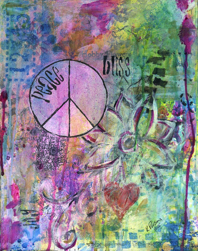 """Peace, Bliss, and Joy"" original fine art by Kali Parsons"